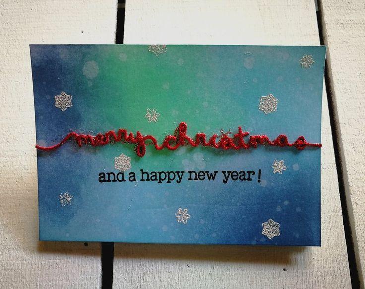 """MERRY CHRISTMAS"" 3 FOLD CARD - Scrapbook.com #3foldcard #foldcard #christmascard #christmas #natale #lawnfawn #handmadecard"