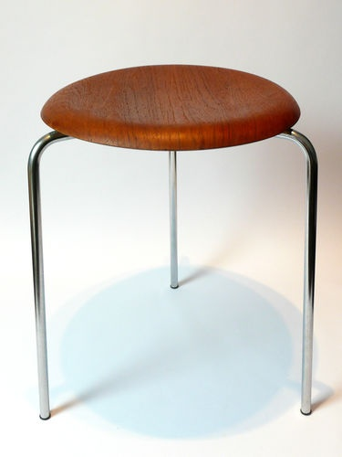 Original 1970s Teak Dot Stool Arne Jacobsen Fritz Hansen