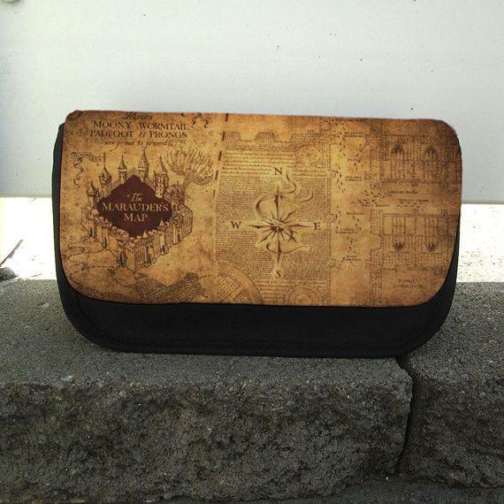 Makeup / Pencil / Toiletries / Bag / Tote / Case for Travel organizer- Harry Potter Marauder's Map