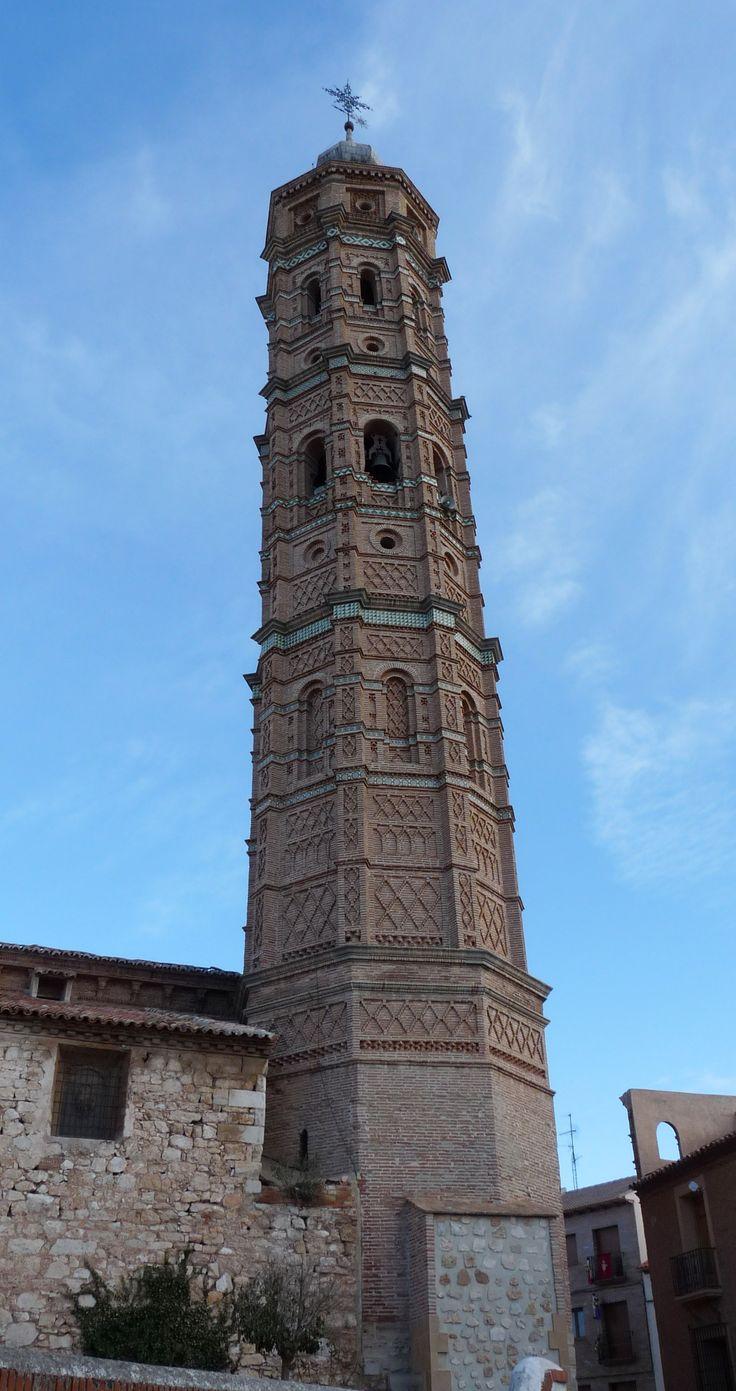 Torre Mudejar de la iglesia de la Asunción - Muniesa - Teruel (Aragón)