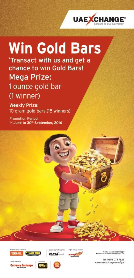 Transact and win gold bars 2016