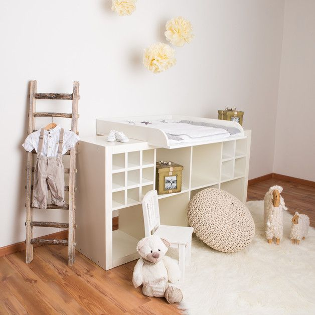 Weißer Wickelaufsatz Für Deine Ikea Kallax Kommode / White Changing Table  Made By PuckDaddy Via DaWanda