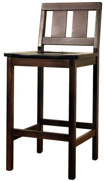 Sit up high in the Aspinwall Counter Chair as the seat sits at 26 or 30 inches on long and sturdy legs that were handcrafted by Amish artisans.