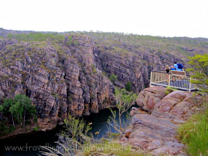 A short walk/climb from the car park and you get the most beautiful view of Nitmuluk Gorge, otherwise known as Katherine Gorge.  The children loved the echo.