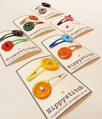 Button Hairclips