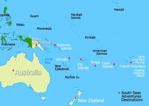 Location Of Fiji Islands | Fiji Islands Map, Fiji Map | Our World