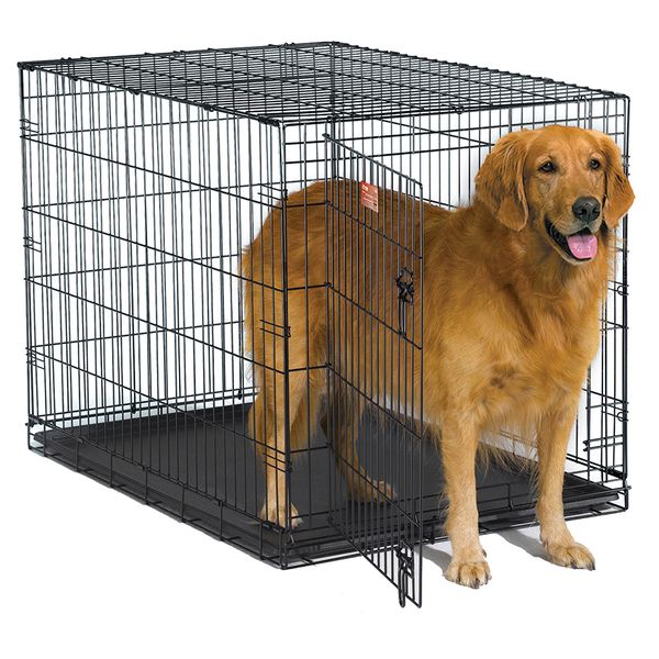 Keep your pet safe and sound in the iCrate wire dog crate from Midwest. This handy crate is easy to set up for use or fold up for storage.
