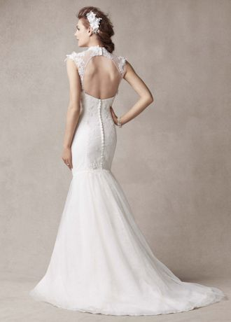 Amazing Melissa Sweet Wedding Dress with Illusion Neckline Style AI