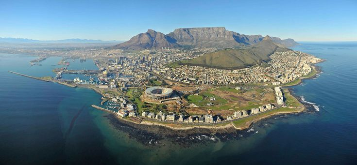 Cape Town, view from the sky