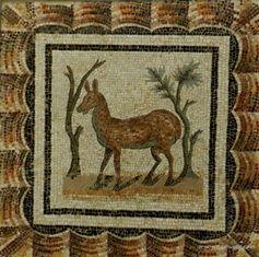 Mosaiques romaines Bardo, antilope