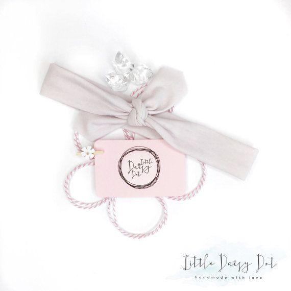 Lilac Baby Headband / Knotted Head Wrap / Baby Shower Gift / Modern Headband / Pastel Headband / Infant Headband / Cotton Knotted Headband