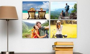 "Groupon - $ 5 for One 7""x10"" Custom Photo Printed on Metal from Picture It on Canvas ($65 Value) in [missing {{location}} value]. Groupon deal price: $5"