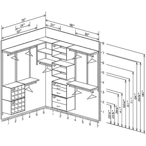 Best 20 walk in closet dimensions ideas on pinterest for Master walk in closet dimensions