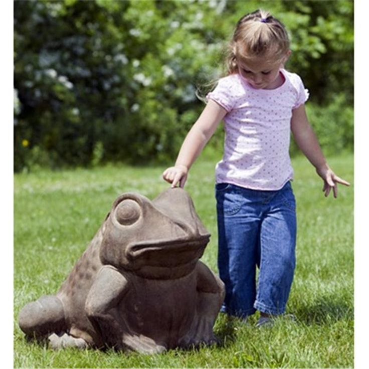 Giant Garden Frog Cast Stone Frog Statue Made By Campania International