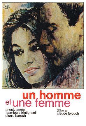 """""""Un homme et une femme"""" de Claude Lelouch. Musique de Francis Lai"""
