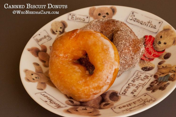 Canned Biscuit Donuts  - home made donut taste with a lot less work!  Must pin!