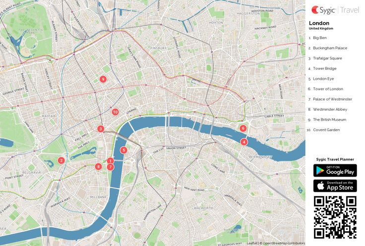 London free printable tourist map
