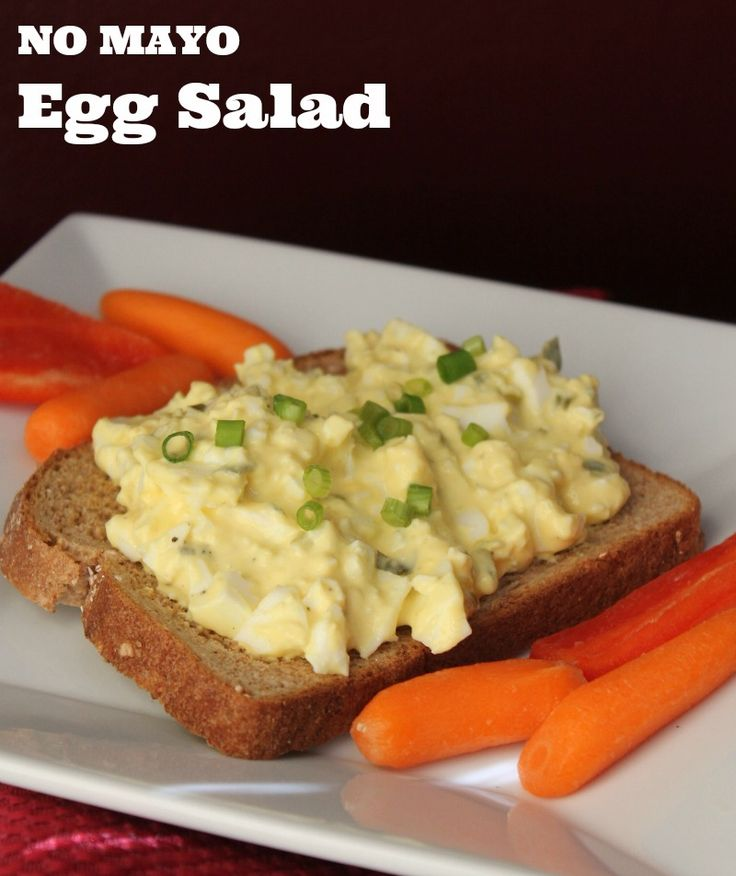 No Mayo Egg Salad Recipe 143 calories and 4 weight watchers points plus
