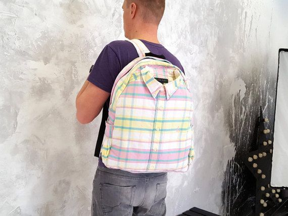 Colorful backpack Unique rucksack One of a kind by YouNeedEco