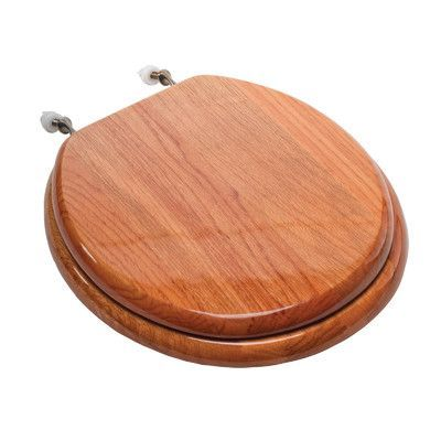 Comfort Seats Designer Solid Elongated Wood Toilet Seat