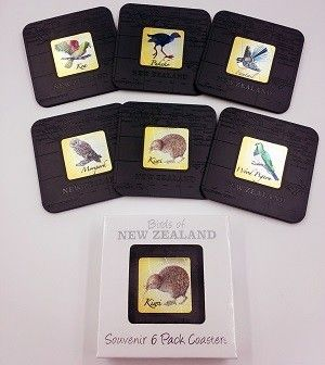 Birds of New Zealand Coaster - 6pk. You can make as events gifts, birthday gifts, Kiwiana gifts, promotional gifts