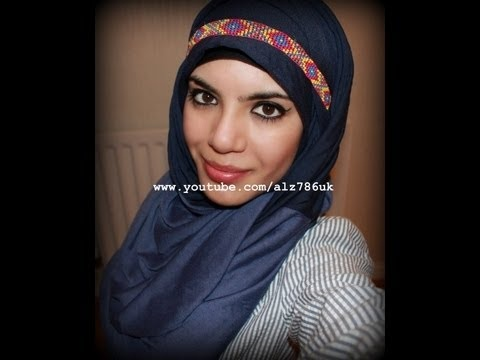 Jersey Hijab Tutorial using No Pins!-CASUAL AND EASY STYLE