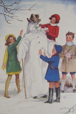 Vintage Schoolroom Poster - The Snowman
