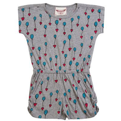 Paper Wings girls Floating Hearts Playsuit