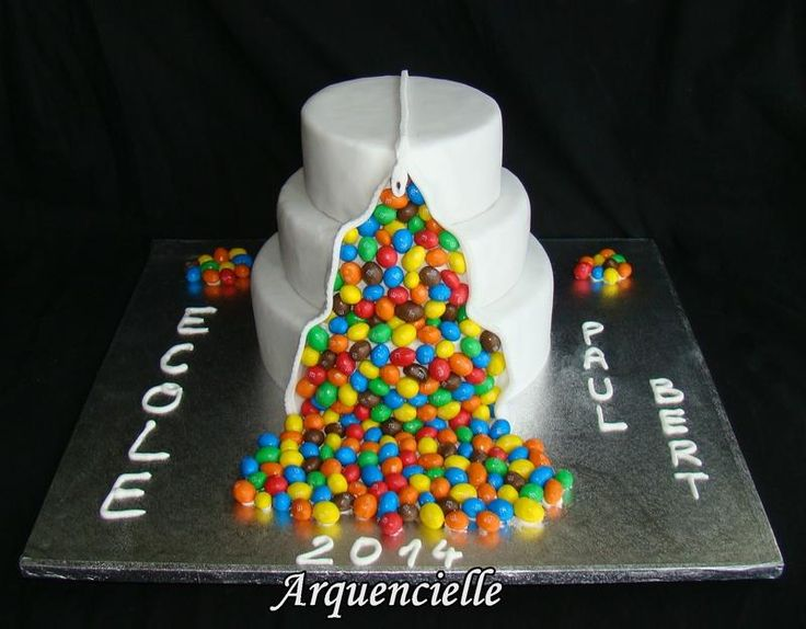 G teau m m 39 s pour la kermesse d 39 cole wedding cake search wedding and cakes - Gravity cake noel ...