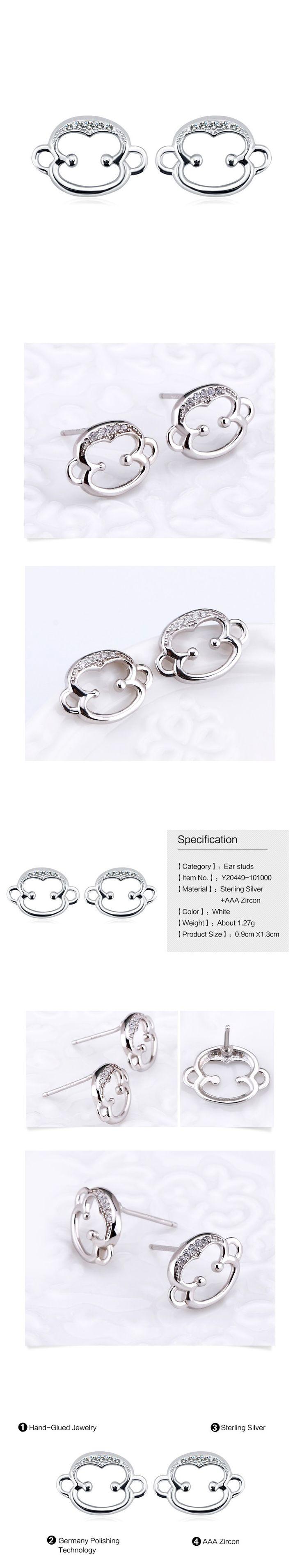 Majom alakú fülbevaló 925 ezüst