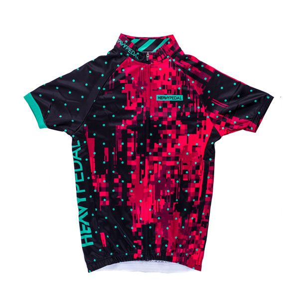 Pink Microdot Jersey - Women's Cycling Jersey – THE HEAVY PEDAL