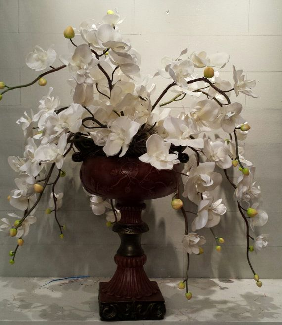 White Orchid Centerpiece by SouthernAccentsEtc on Etsy, $165.00