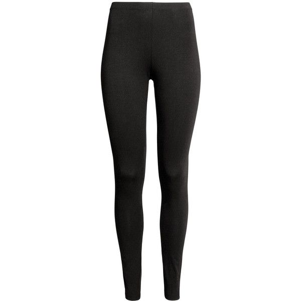 Jersey Leggings $12.99 (€11) ❤ liked on Polyvore featuring pants, leggings, elasticated waist trousers, elastic waist pants, jersey leggings, stretch waist pants and jersey pants