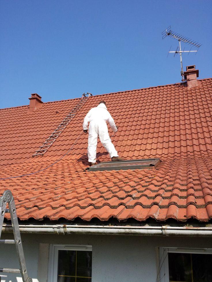 Application d'un hydrofuge toiture, Domaine et patrimoine de France
