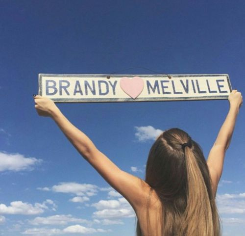 Large Brandy Melville Heart Sign