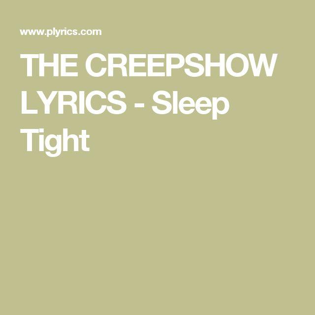 THE CREEPSHOW LYRICS - Sleep Tigh