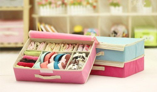 SFY Multifunctional Household Underwear, Bra, Socks, Organizers Storage Case Boxes with Cover 1pcs $21.68 (save $13.40):