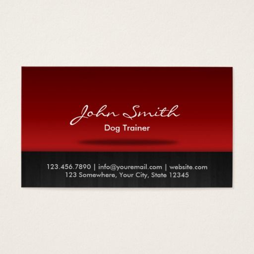 292 best animal trainer business cards images on pinterest for Dog trainer business card