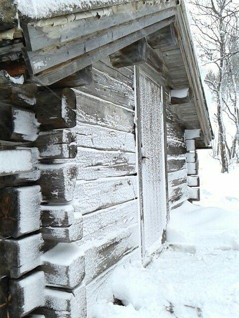 Ingang van de schuilhut van Fulufjället Nationalpark