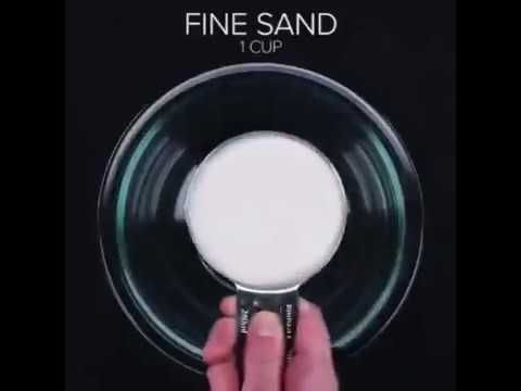 Most satisfying video of kinetic sand |baby first diy