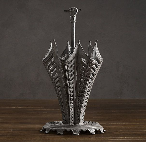 Victorian Iron Umbrella Stand  Restoration Hardware  a tad whimsical, which I like