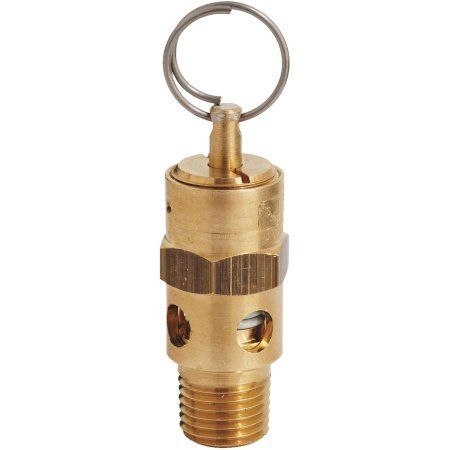 Milton S-1090-125 1/4 inch Mnpt Asme Safety Valve - 125 PSI Pop off Pressure, Multicolor