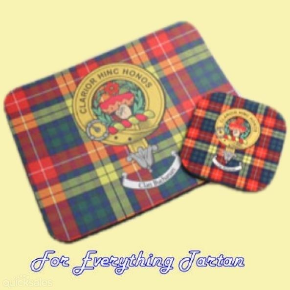 Clan Crest Tartan Badge Mousemat And Coaster Gift Set by JMB7339 - $35.00