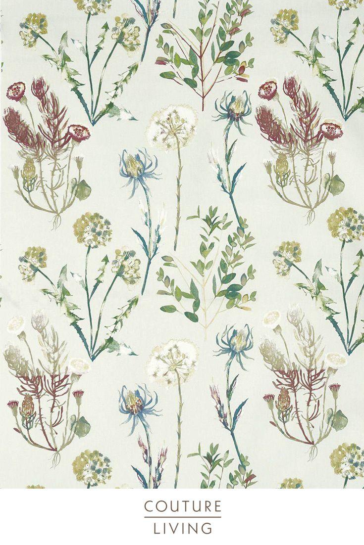 Allium Summer Floral Curtain Fabric Floral Curtains Curtains With Blinds Floral Fabric