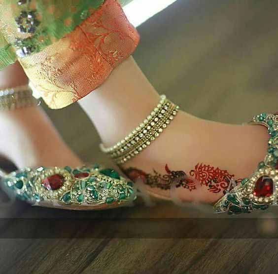 Fancy Khussa Shoes Designs For Girls In