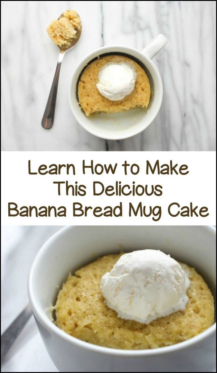 Make your own fresh banana bread mug cake in under 2 minutes! Learn how here...