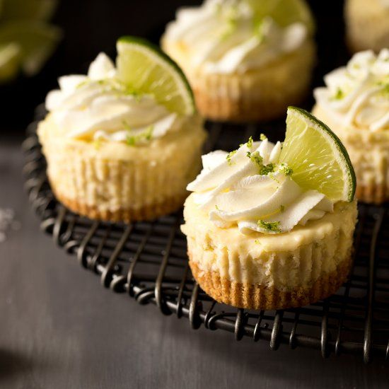 Easy, No-Bake Margarita Cheesecakes!