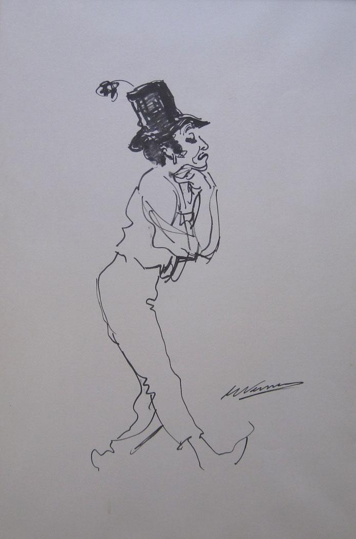 "Eduardo Vernazza ""Marcel Marceau"" Impreso sobre papel 50 x 34 cm.  http://www.portondesanpedro.com/ver-producto.php?id=11772"