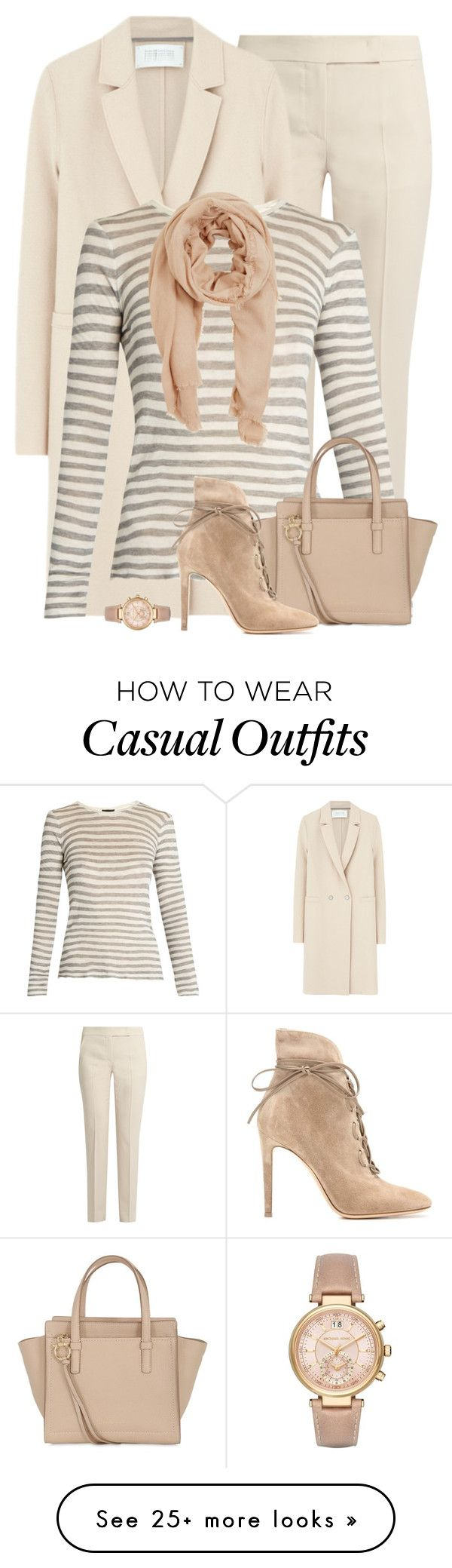 """""""Business Casual"""" by terry-tlc on Polyvore featuring MaxMara, Harris Wharf London, ATM by Anthony Thomas Melillo, Salvatore Ferragamo, MANGO, Gianvito Rossi, Michael Kors, WorkWear, fashionset and polyvoreeditorial"""