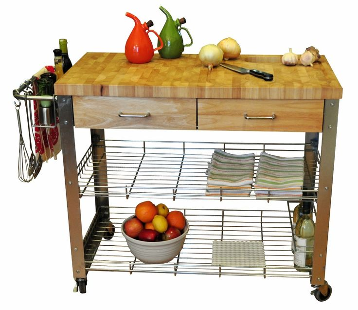 Chris U0026 Chris Stadium Kitchen Cart With Wood Top U0026 Reviews | Wayfair